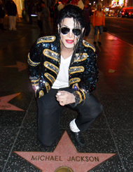 Navi at Michael Jackson's Star on the Walk of Fame, Hollywood, CA