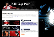 Screenshot of King of Pop (The UK Michael Jackson Fanclub)