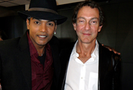 Navi and John Branca (Co-Executor of The Michael Jackson Estate)
