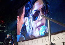 Navi is interviewed in London's Leicester Square at the premiere of 'Michael Jackson's THIS IS IT'